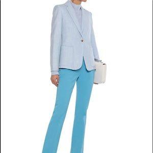 Max Mara Sky Blue Blazer Wool Cashmere Silk